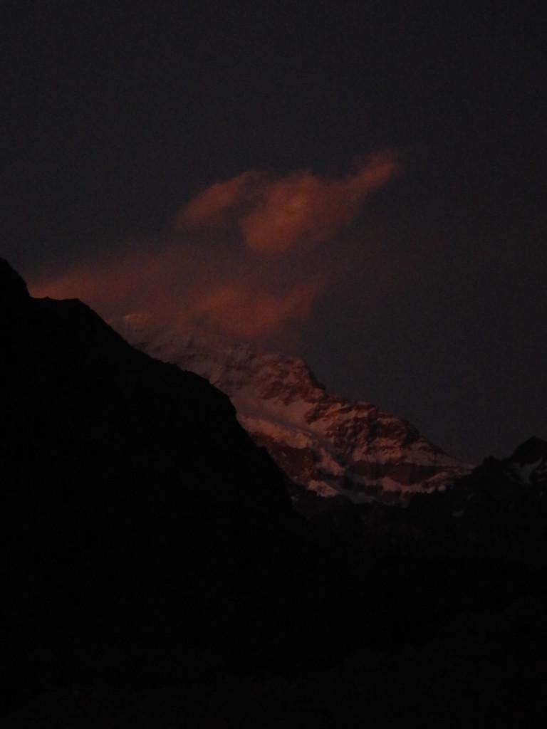 Aconcagua at night