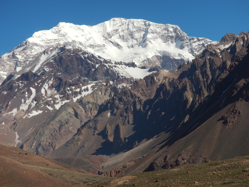 The south wall of Aconcagua is visible from Aconcagua Provincial Park.