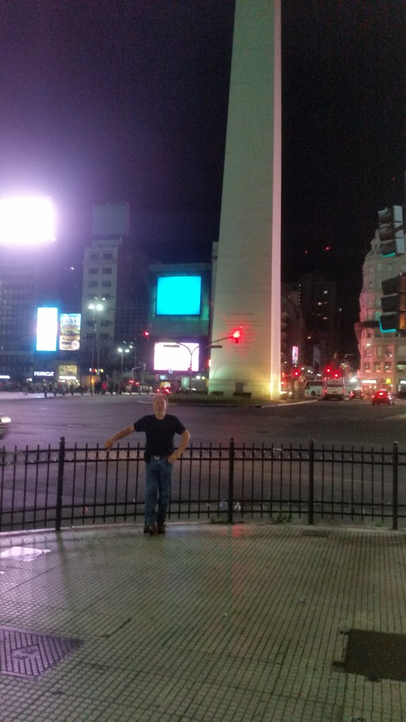 Dave standing in front of the Obelisk.