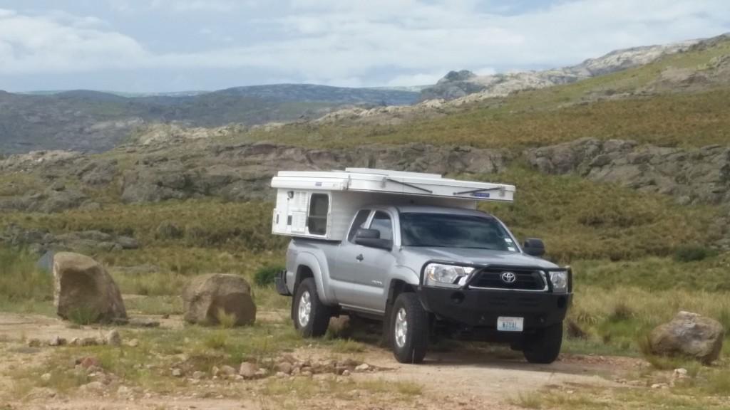 Campsite at La Quebrada del Condorcito National Park.