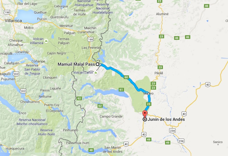 I leave Route 40 and drive up toward the border with Chile to visit Lanin National Park Just across the border from Pucon.