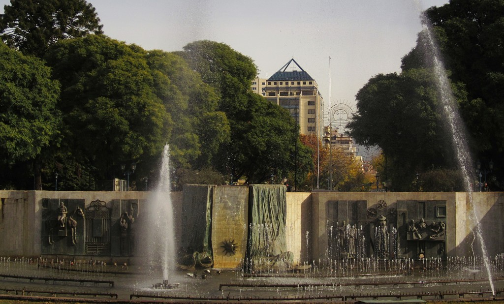 Plaza Independencia is the Main Plaza in the center of Mendoza. It is surrounded by four smaller plazas off of its corners.