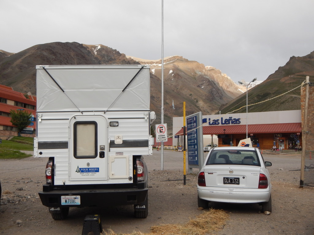 I was allowed to truck camp free of charge at the conveniently located resort parking lot.