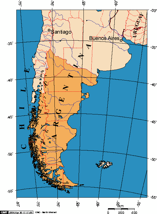 Patagonia begins at the Mendoza Neuquen provincial line in Argentina and at