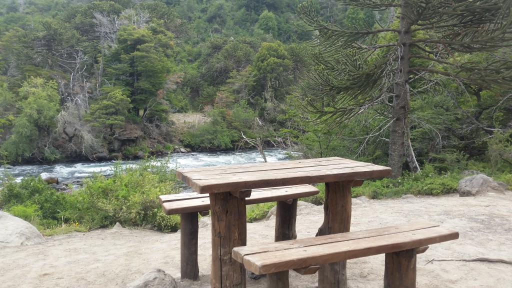 I stopped for lunch in the national park at this riverside picnic table. Beautiful area.