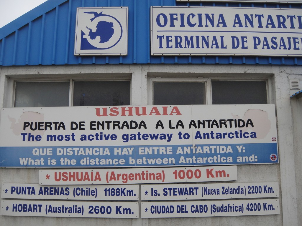 Antarctic passenger terminal, at the harbor in Ushuaia.