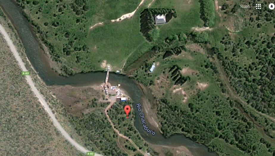 Here is the Google satellite image of my campsite.