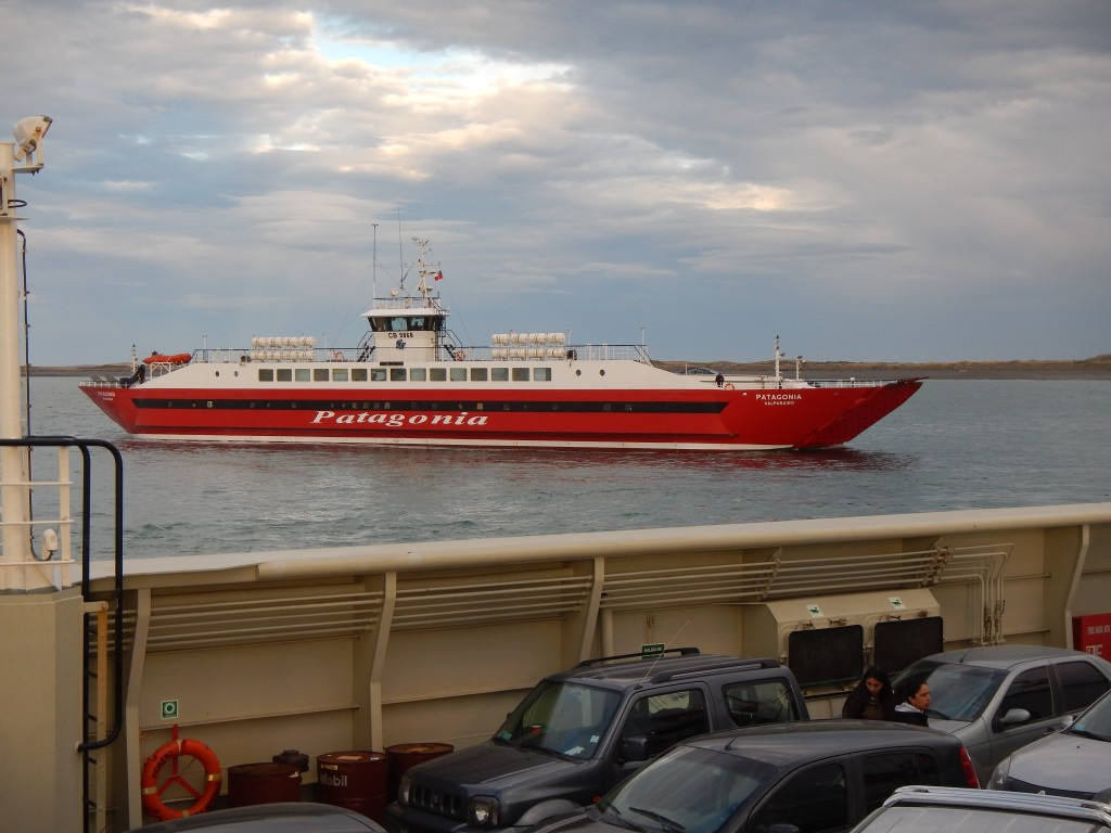 The ferry from Tierra del Fuego Isand to Punta Delgada on the mainland.