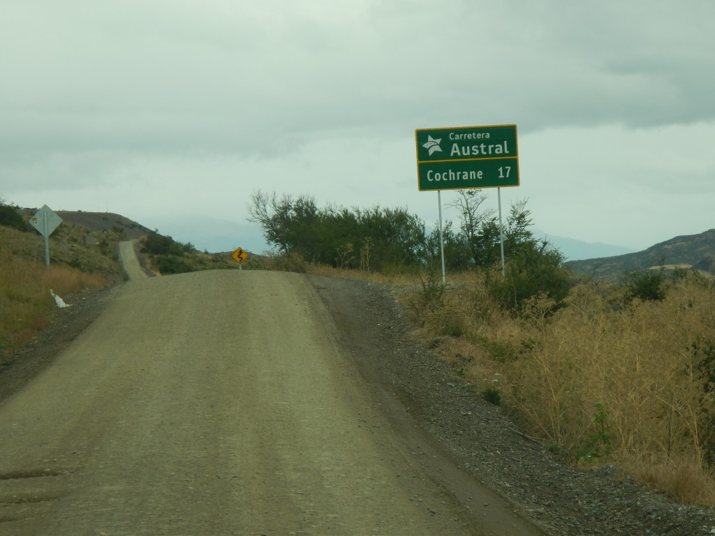 I arrive at Chilean Route 7 also known as the carretera austral or southern road just north of Cochrane.