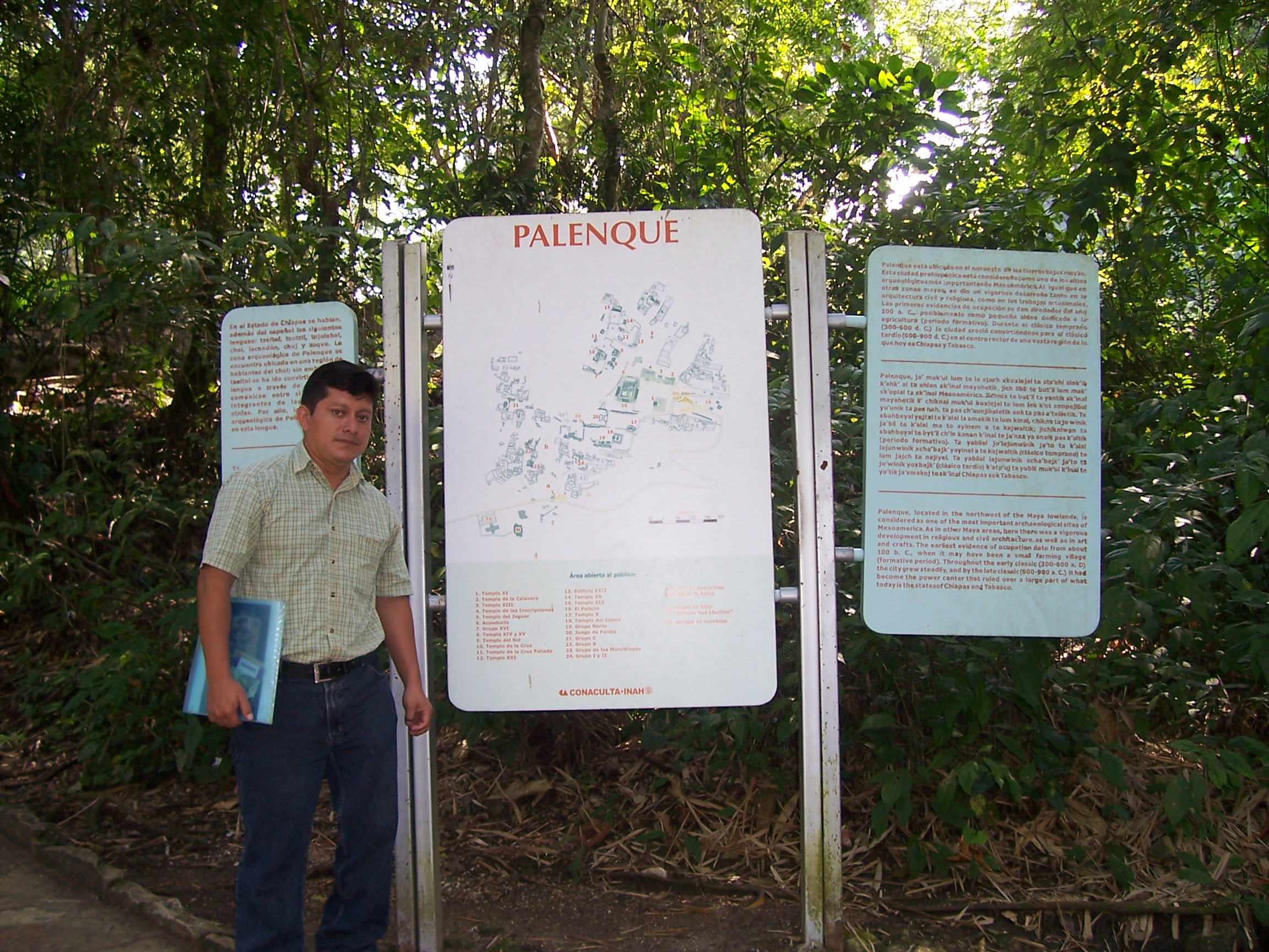 Our guide Luis at the entrance to Palenque