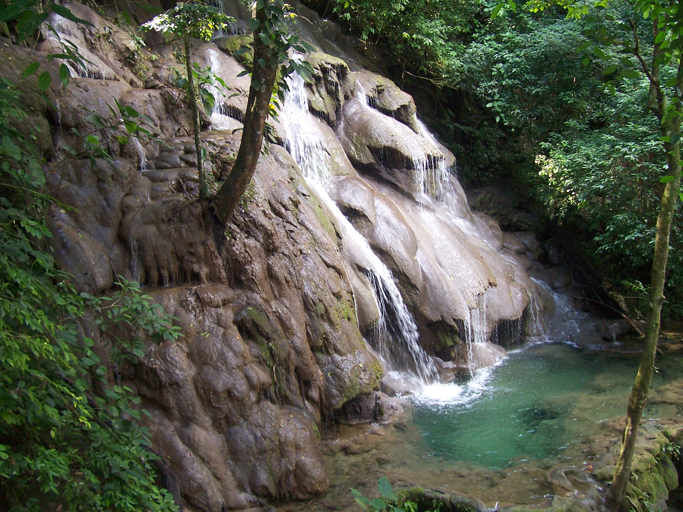 Waterfalls abound in the Palenque Ruins